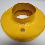 Yellow sewn bellow
